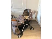 Silvercross pram/stroller, with carrycot, car seat, isofix, raincover and all accessories!!