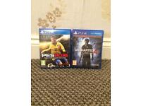 Pes 2016 and Uncharted 4