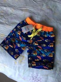 BNWT Boots mini club swim shorts