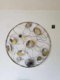 WALL Art silver and gold Large BEAUTIFUL