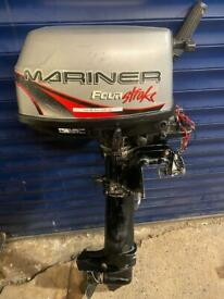 Mariner 4hp long shaft four stroke outboard boat engine