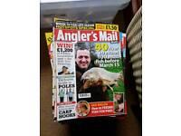 Fishing magazines x 50