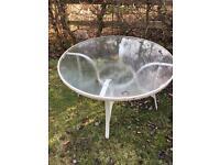 Free glass garden table