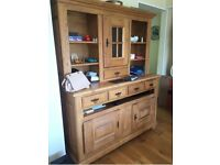 Solid wooden display cabinet unit cupboard