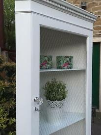 Corner Cabinet Unit Cupboard ~ White Shabby Chic Vintage