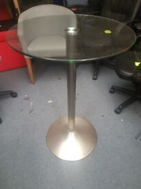 Lovely Glass top Cafe tables / Small glass top office meeting tables