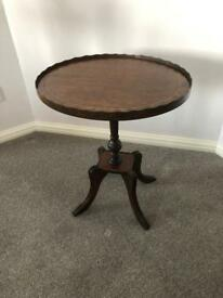 Oval Pedestal Occasional Table