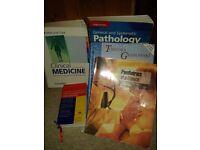 Medical text books, assortment