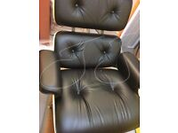 GENUINE HERMAN MILLER EAMES LOUNGER AND OTTOMAN BRAND NEW IN BOX BLACK WALNUT