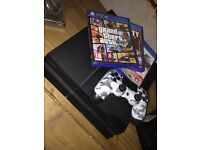 PS4 1tb with 3 games