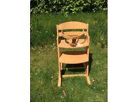 Babydan Danchair High chair, Natural colour