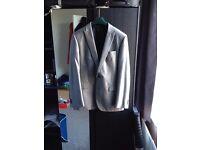Mens NEXT Grey Suit 42 Reg Jacket 36S Trousers - 2 button