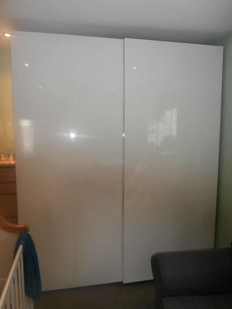 Large double IKEA PAX HASVIK Sliding Door Wardrobe with