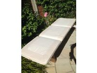 3 Seater Garden Beige Bench Cover 480x1430x60mm