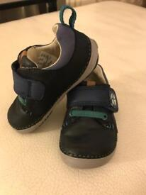 Clark's first walkers baby boys shoes size 3F