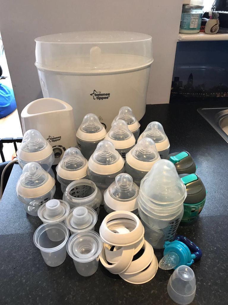 Tommee tippee steriliser, bottle warmer and bottles plus extras
