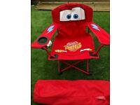 Disney Cars folding kids camping chair with bag