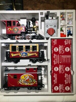 LGB 72550 CHRISTMAS RED TRAIN SET-RARE NEVER OUT OF BOX