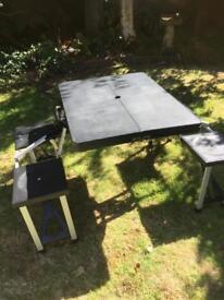 Picnic bench, fold-away