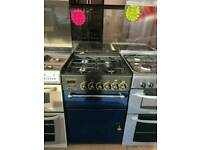 LEISURE 55CM GAS DOUBLE OVEN COOKER IN BLUE