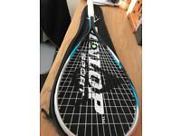 Mint condition Dunlop Squash Racket and case