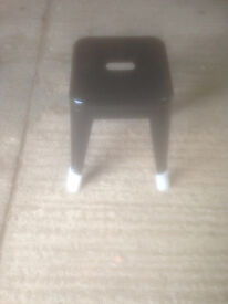 Small Black Metal Industrial Style Stool (2 Available)