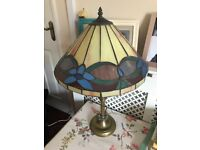 Beautiful lamp with Tiffany style lampshade