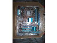 775 Motherboard. Xeon e5450 (LGA771), Pentium G6950 (LGA1156), Midi Case+PSU, Ram.
