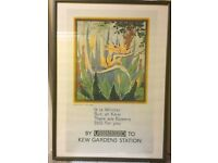 Kew print framed picture