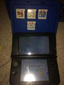 Blue Nintendo 3ds xl and games