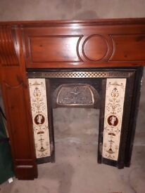 Victorian style fire surround with mirror