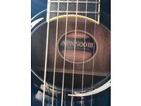 Semi acoustic Yamaha guitar