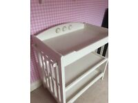 Never used Mamas and Papas baby changing unit and Cot
