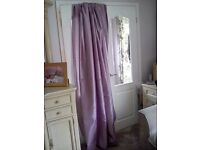 Lovely Mauve Faux Silk Lined Curtains
