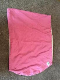 Pink baby sling from birth