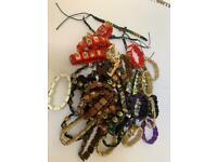 Set of 51 x new stretchy religious bracelets