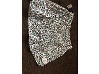 White flowery skirt from Select