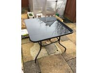Garden table (black glass)