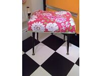 retro dressing table stool