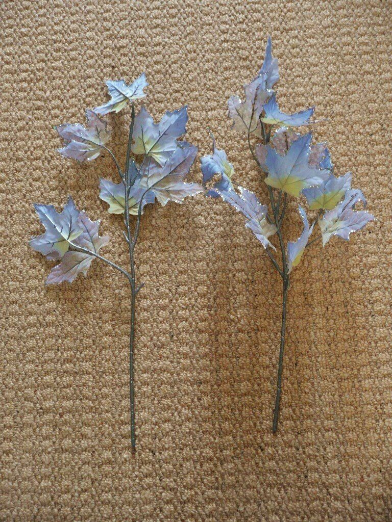 2 blue and yellow artificial flowers leaves for a vase or flower 2 blue and yellow artificial flowers leaves for a vase or flower arrangement crafts etc izmirmasajfo