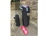 Everlast punch bag plus Lonsdale gloves and mat