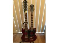 2008 Epiphone Twin Neck G-1275 And Epiphone Hard Shell Case