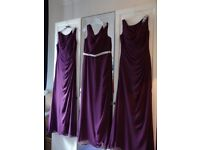 UNWORN TRUE BRIDEMAIDS DRESSES in Eggplant