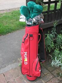 Golf bag and clubs - hardly used