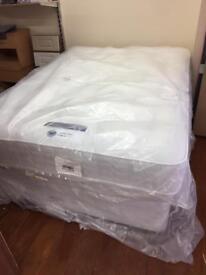Brand new silent night 4'6 double divan base and mattress