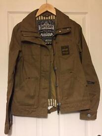 Super dry tan ladies jacket size medium