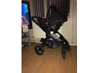 Icandy peach 3 double colbolt Blue including carrycot.