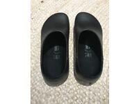 Black Birkenstock Pro-Birki Clog Shoes Size 40