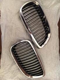 BMW E92 E93 3 Series Genuine Chrome Front Kidney Grill Grilles Set 2006 - 2009