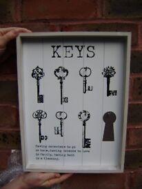 Key holder, wall hanging, NEW, duplicate present